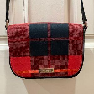 Kate Spade Red Plaid Crossbody Purse Bag